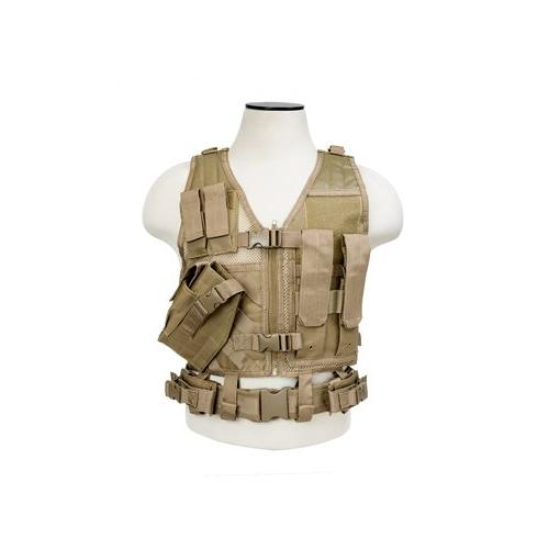 VISM CTVC2916T Tactical Vest Childrens/tan