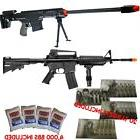 DARK OPS AIRSOFT Sniper Rifle and Spring Rifle COMBO PACK w