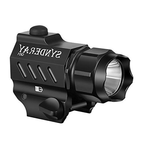 SyndeRay G01 CREE LED Tactical Gun Flashlight 2-Mode 230LM P