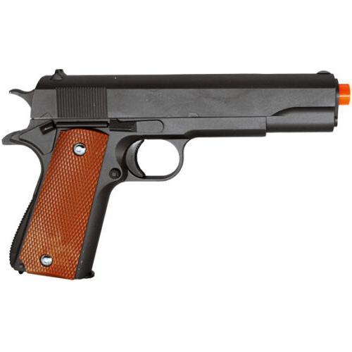GALAXY G13 METAL GUN MILITARY M1911 SPRING AIRSOFT PISTOL w/