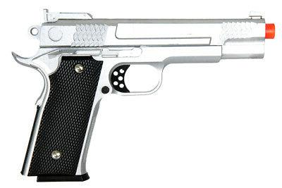 g20 1911 spring airsoft pistol silver 24922