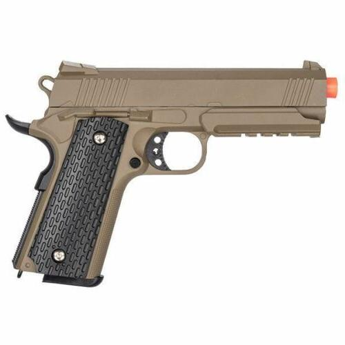 G25D Metal 1911 Airsoft Warrior Spring Pistol With Rail in D