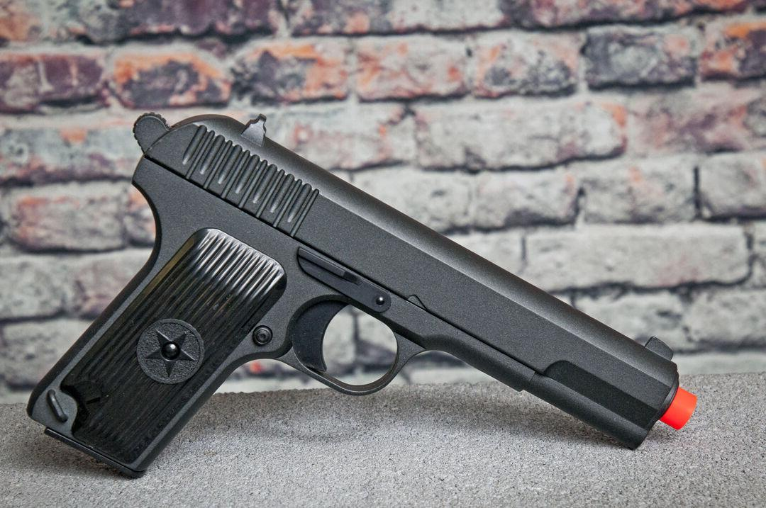 "G33 Full Metal Military Airsoft Spring Pistol Hand Gun 8"" Ov"