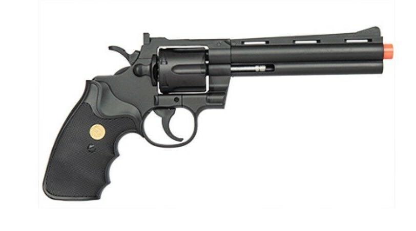 g36b spring revolver pistol black