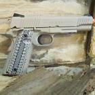 Licensed Colt 1911 co2 Tan NON BLOWBACK metal slide and maga