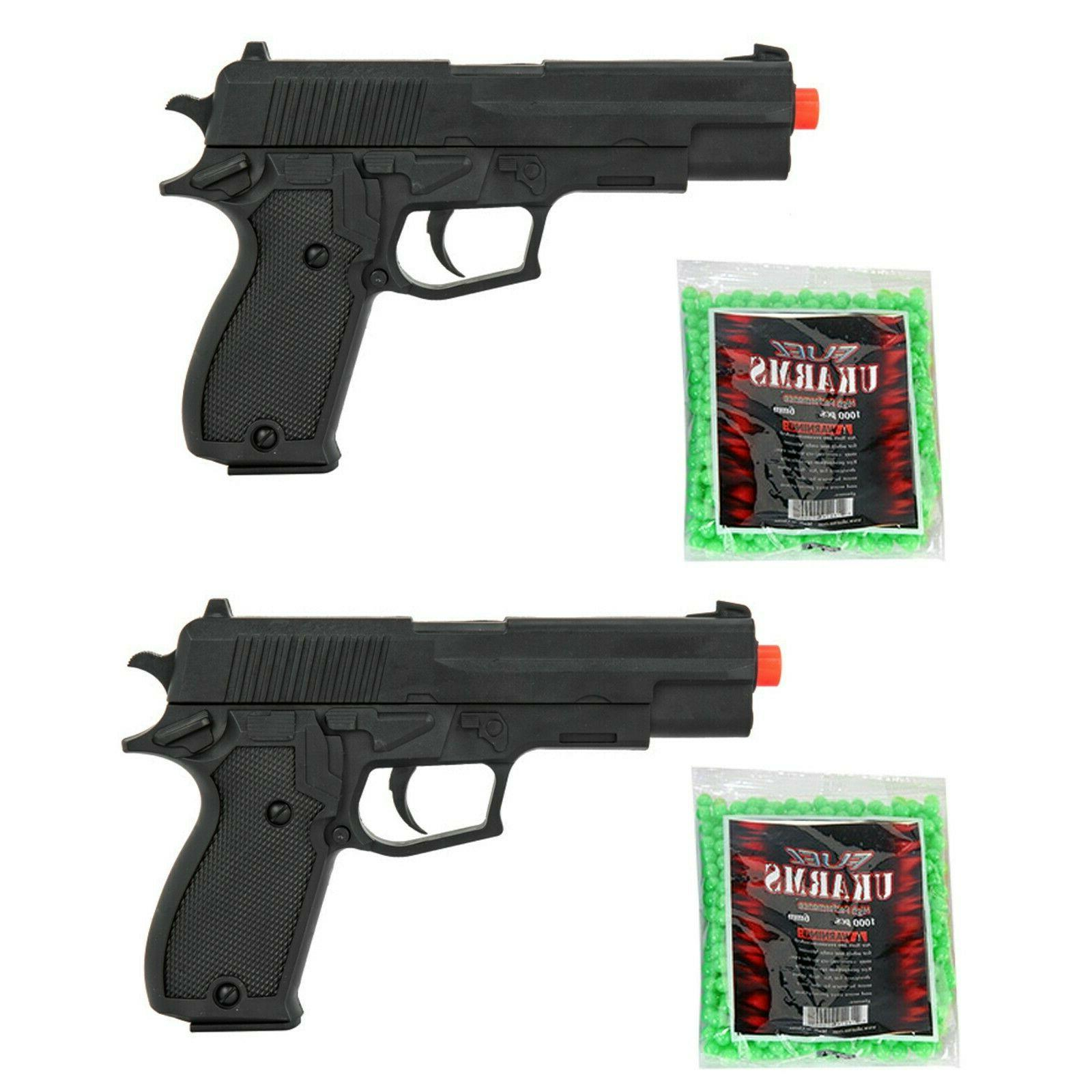 lot 2 airsoft hand gun lightweight spring