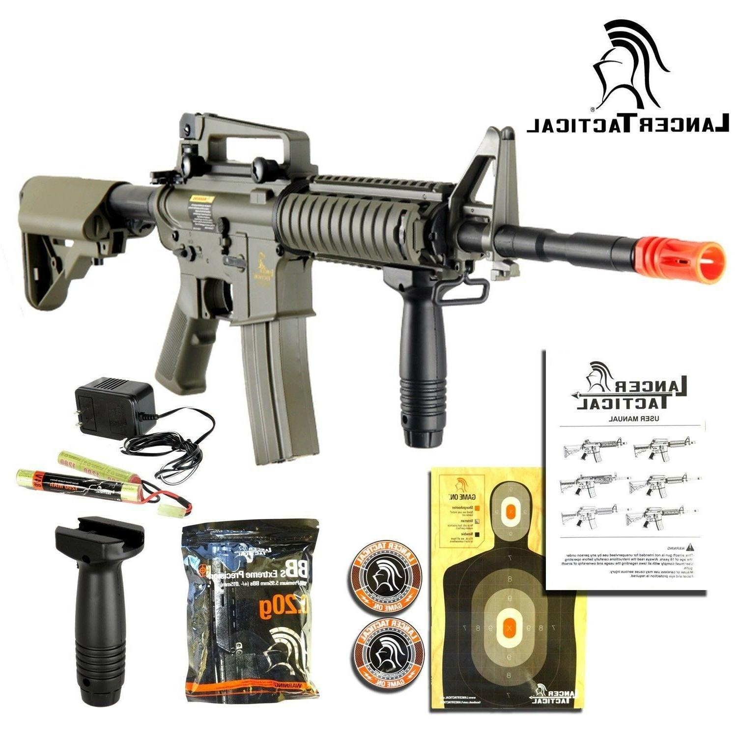 Lancer Tactical LT-04T M4A1 AEG Full/Semi Auto RIS Tan Metal