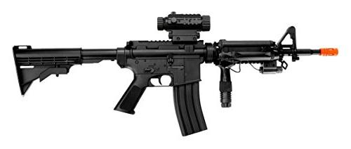 M4 A1 M16 ELECTRIC AUTOMATIC AIRSOFT GUN RIFLE AEG + FLASHLI