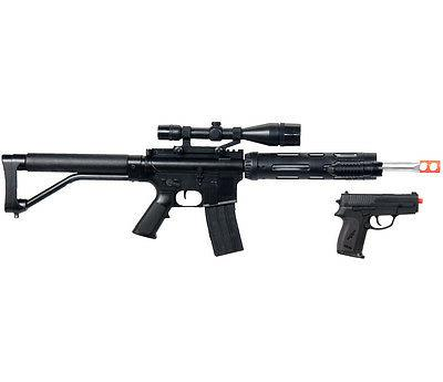 NEW M4 A1 M16 TACTICAL ASSAULT SPRING AIRSOFT RIFLE GUN w/ P