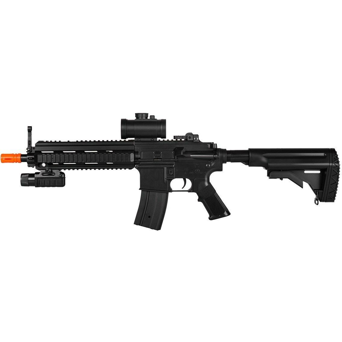 DOUBLE EAGLE M4 FULL AUTO ELECTRIC AEG AIRSOFT GUN RIFLE FLA