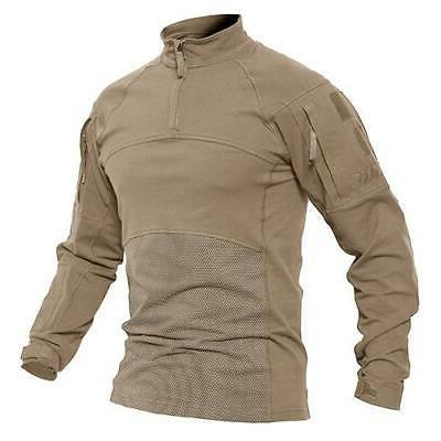 MAGCOMSEN Army T-shirts Men Combat C