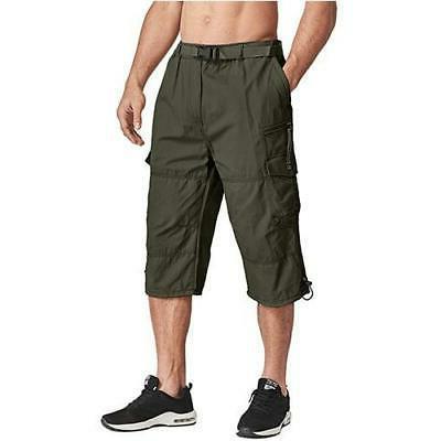 MAGCOMSEN Men Capri Pants Military Below Knee Trousers