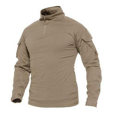 MAGCOMSEN Tactical T-shirts Military Clothing Summer Long Sl