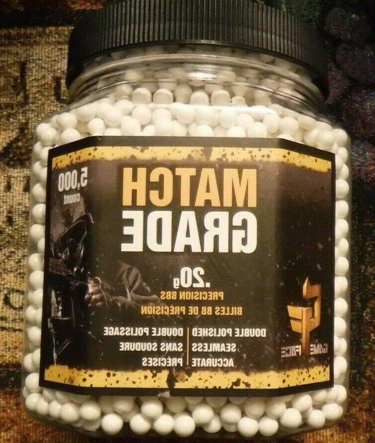 .20g Game Face Match Grade White Airsoft BBs  20GPW5J