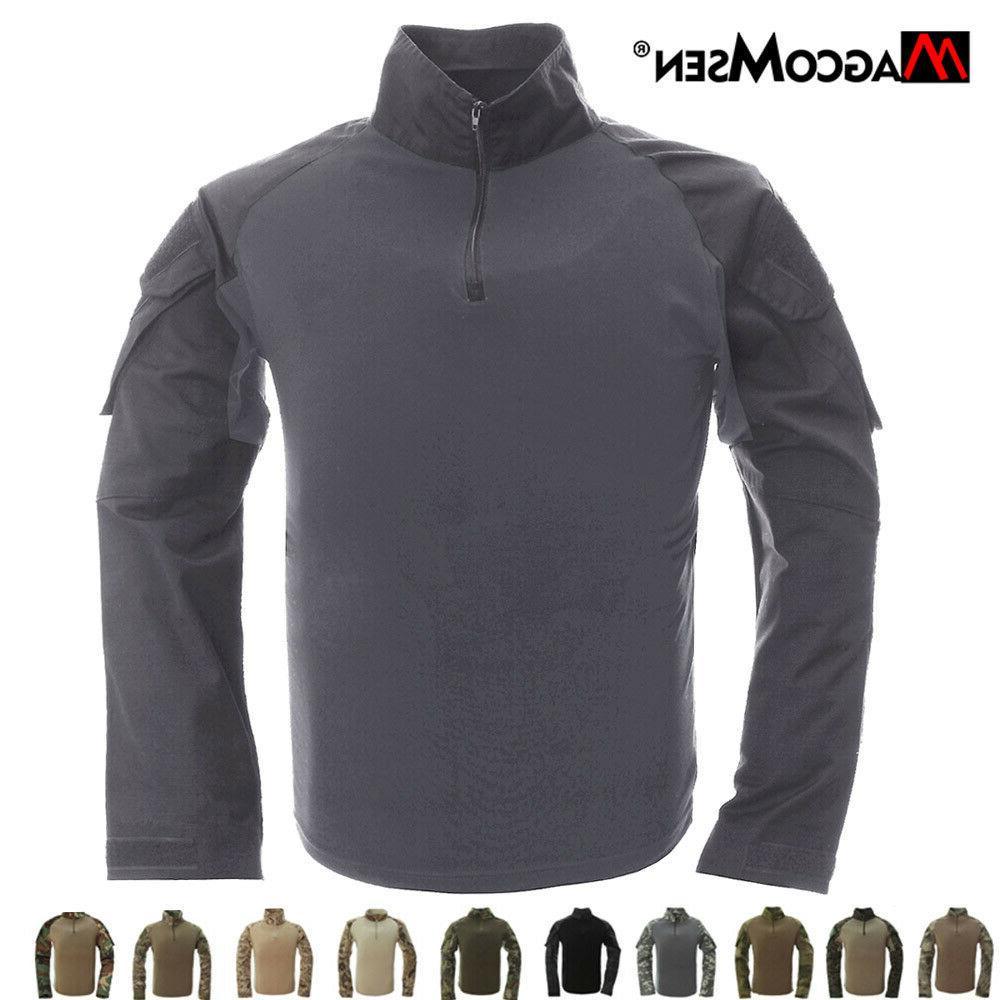 men s tactical combat airsoft shirt military