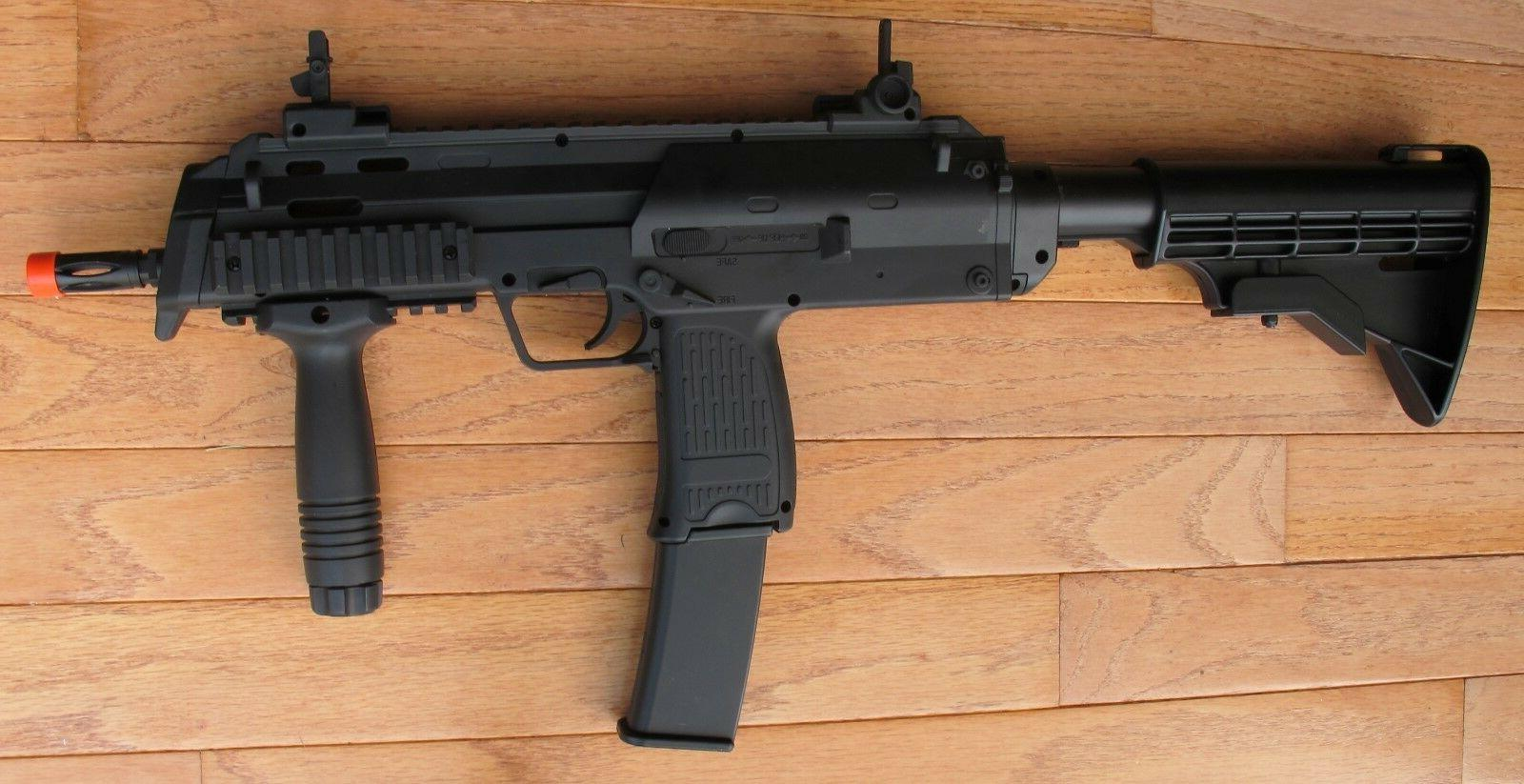 MP7 Style Electric Airsoft Gun w/Fore Grip& Retractable High Cap Mag