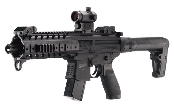 Sig Sauer MPX Air Rifle/Red Dot Sight .177Cal Pellet 30Rnd,