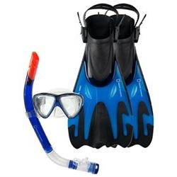 Natl Geographic Snorkeler Tunny 2 Set Blue/Black ML/L 9-12 S