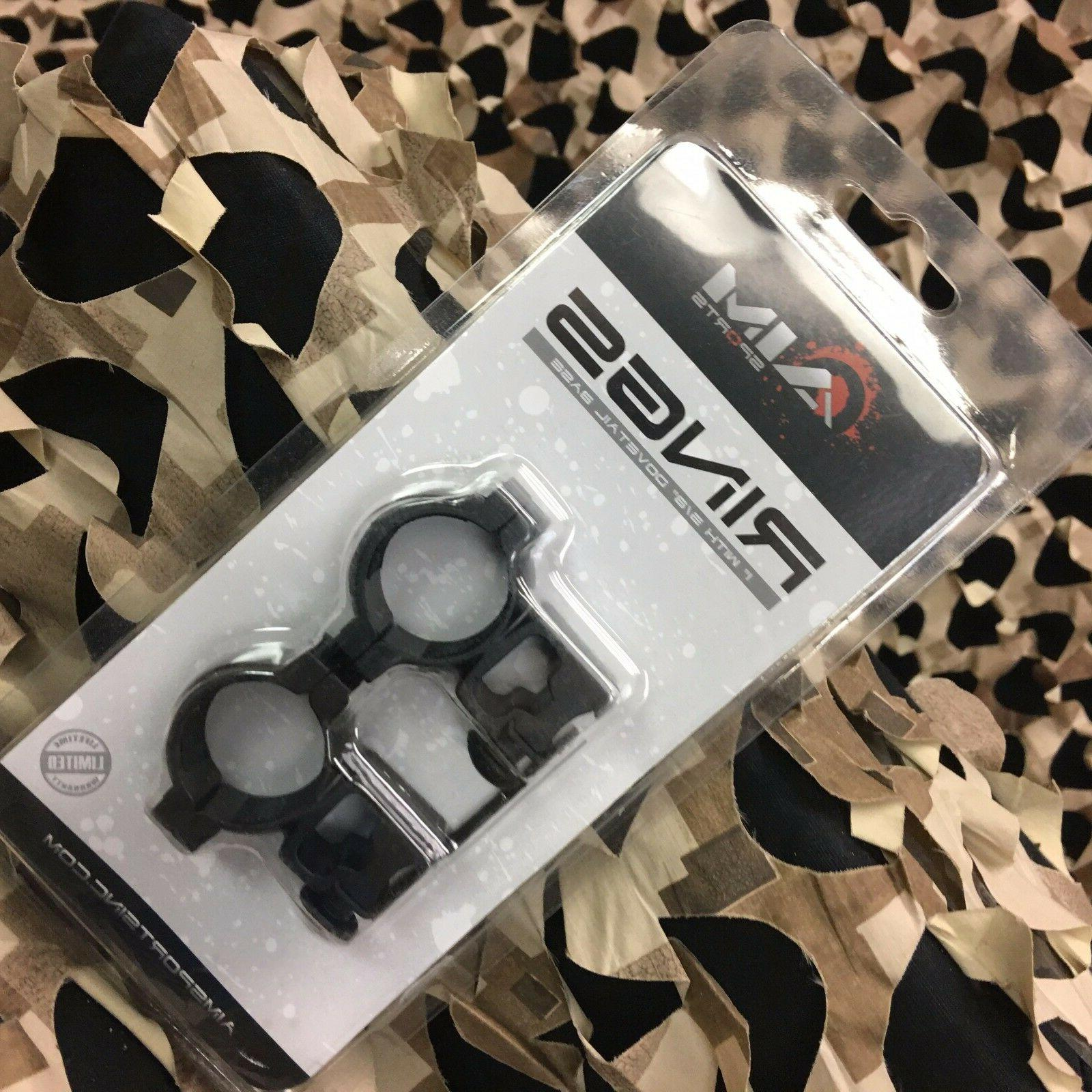 new airsoft 1 dovetail rings high qd10t