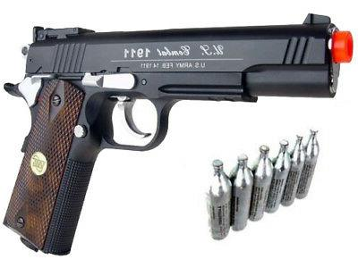 Win Gun Special Combat 1911 Airsoft CO2 Pistol Black W/ Meta