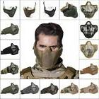 Tactical Airsoft Half Face Mask Steel Mesh Face Cover Army P