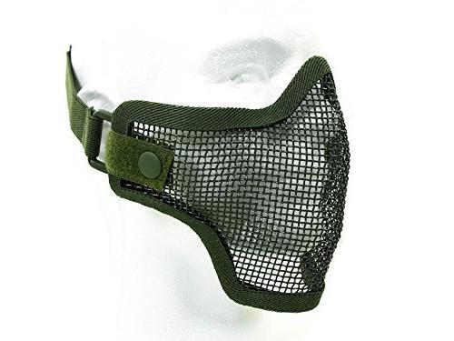 tactical airsoft metal mesh half