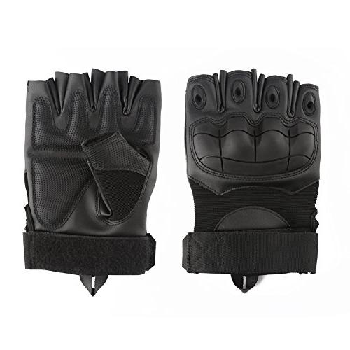 accmor Tactical Gloves Military Combat Gloves with Hard Knuckle Fit Cycling Airsoft Paintball