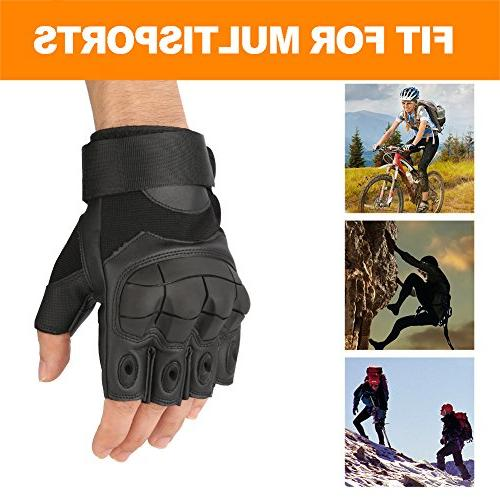 accmor Tactical Fingerless/Half Gloves Gloves with Fit for Paintball Motorcycle Hiking