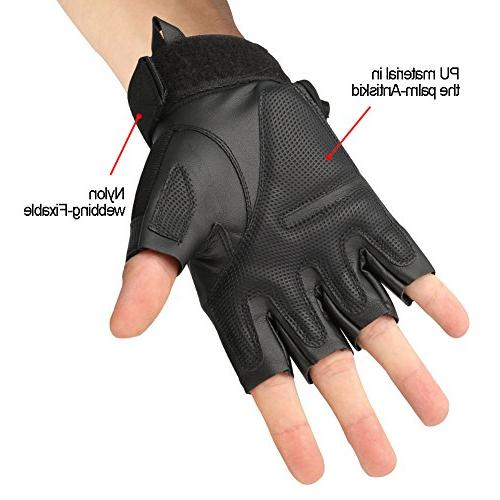 accmor Fingerless/Half Gloves Shooting Combat Gloves Hard Fit for Cycling Paintball Motorcycle Hiking