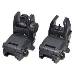 Tactical Folding Front Rear Set Flip Up Backup Sights BUIS B