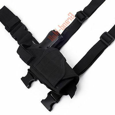 New Pistol Gun Drop Leg Thigh Holster Black