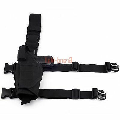 New Airsoft Pistol Leg Thigh Holster Hand Black