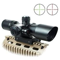 Qinuke 2.5-10x40 Tactical Rifle Scope Mil-dot Dual illuminat