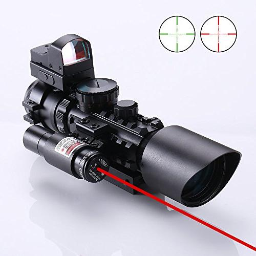 tactical rifle scope w laser