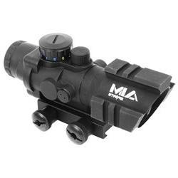 AIM Sports 4x32 Tri-Illuminated Combat Rifle Scope w/ Tri-We