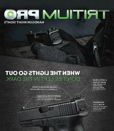 TruGlo Tritium PRO M&P/SD9/SD40/Shield/Shield Set-TG231MP1W