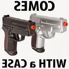 NEW TWIN AIRSOFT DUAL SPRING PISTOL COMBO PACK Set Hand Gun