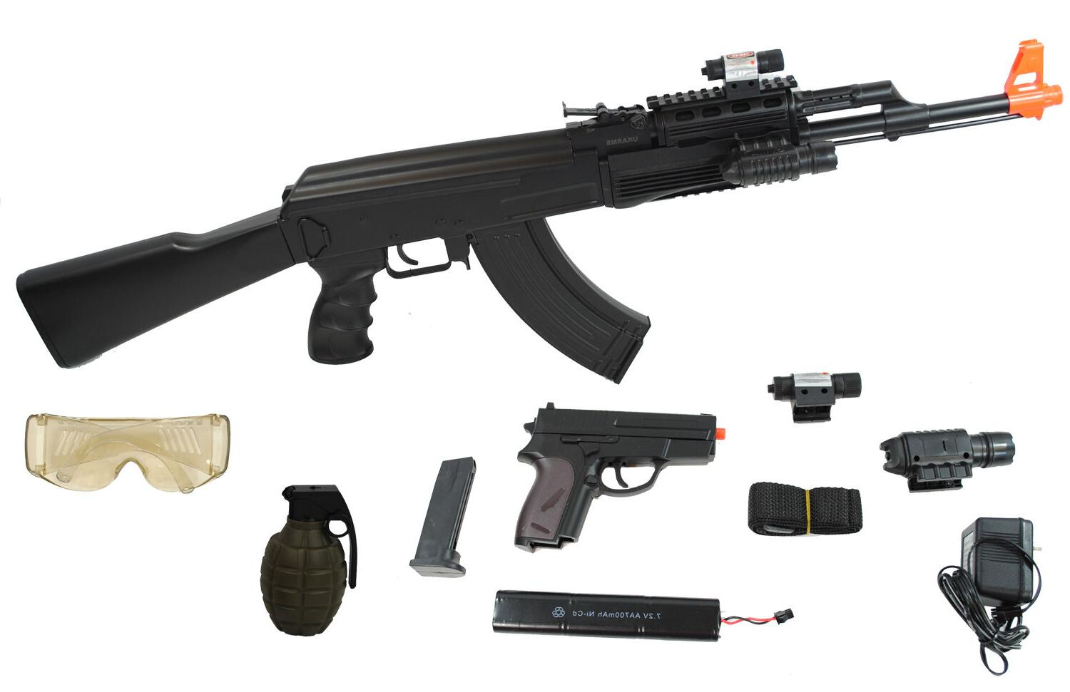 UKARMS AK47 Airsoft Electric Rifle AEG Full Auto TACTICAL BL