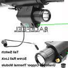 US Combo Green Laser Sight & CREE LED Flashlight 20mm QD Rai