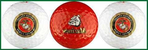 USMC United States Marine Corps Golf Ball Gift Set