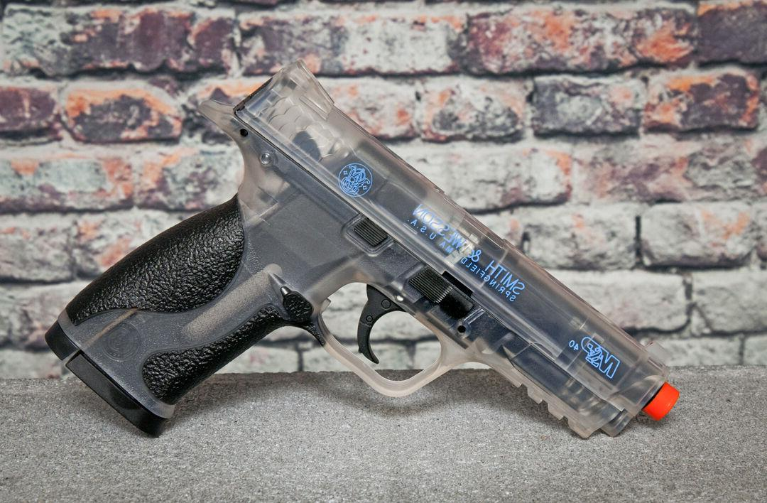 S&W M&P 40 CO2 Airsoft Pistol 388 FPS with .20g BBs Smoked C