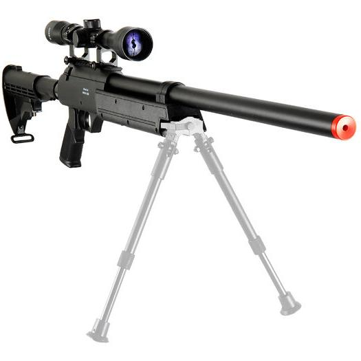 WELL SR-2 METAL AIRSOFT SPRING SNIPER RIFLE GUN w/ Scope