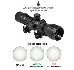 "Leapers UTG 3-9X32 1"" BugBuster Scope, AO, RGB Mil-dot, QD R"