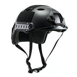 Tactical Crusader Lightweight Tactical Helmet, Black, Fully