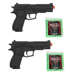 Lot 2 Airsoft Hand Gun Lightweight Spring Pistol FREE 2000 B