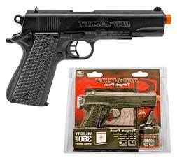 RED JACKET M1911 Airsoft BB Handgun Starter Kit w/ Gel Targe
