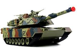 M1A2 Abrams USA Battle Tank RC 16 Airsoft Military Vechile w