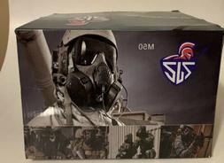 Outgeek M50 Airsoft Mask Full Face With Fans Black