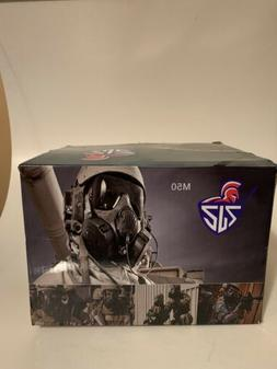 Outgeek M50 Airsoft Mask Full Face With Fans Black - OPEN BO