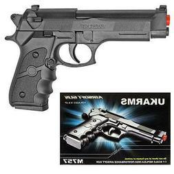 UKArms M757B Black Spring Powered Airsoft Pistol Hand Gun Be